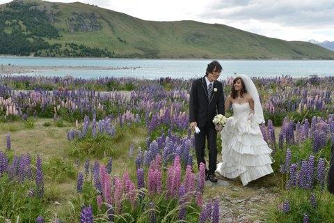 ニュージーランド(テカポ湖)挙式 善き羊飼いの教会ウエディング 吉澤様 簡様