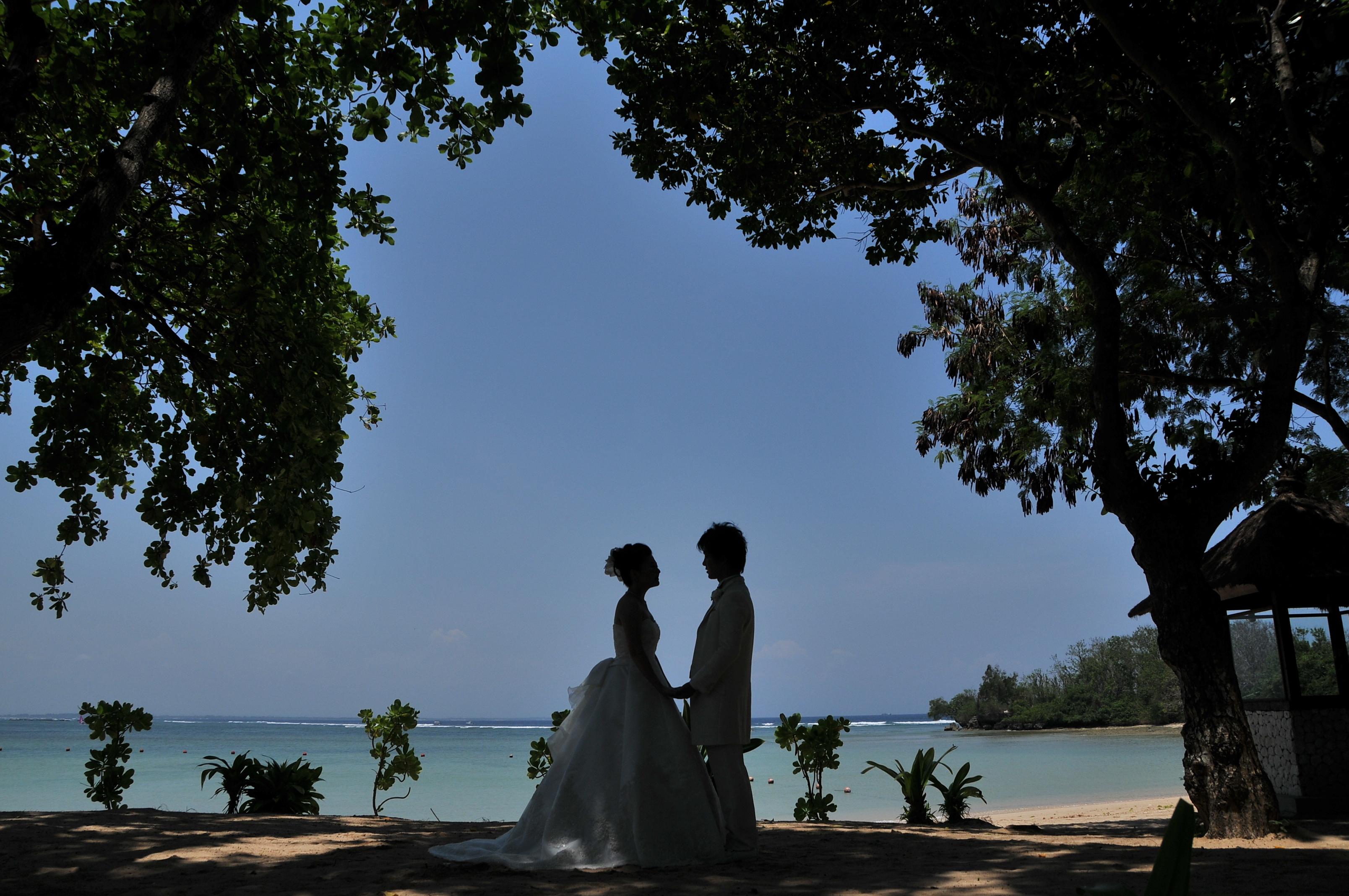 バリ島挙式 ヌサドゥア教会&トゥガルジャヤ宮殿 Wウエディング K様