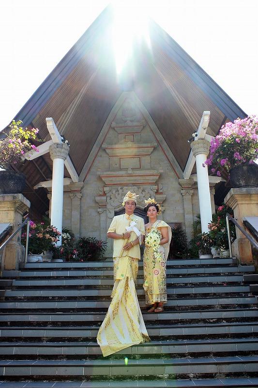 バリ島挙式 バリ婚礼衣装 ヌサドゥア教会ウエディング K J 様 Y S 様