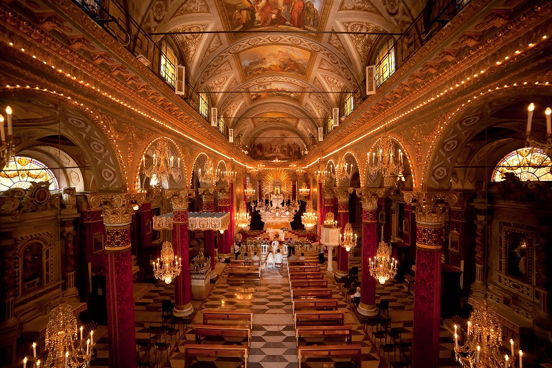 イタリア リヴィエラ海岸挙式 サンタマルゲリータ教会ウエディング W.T様 W.Y様