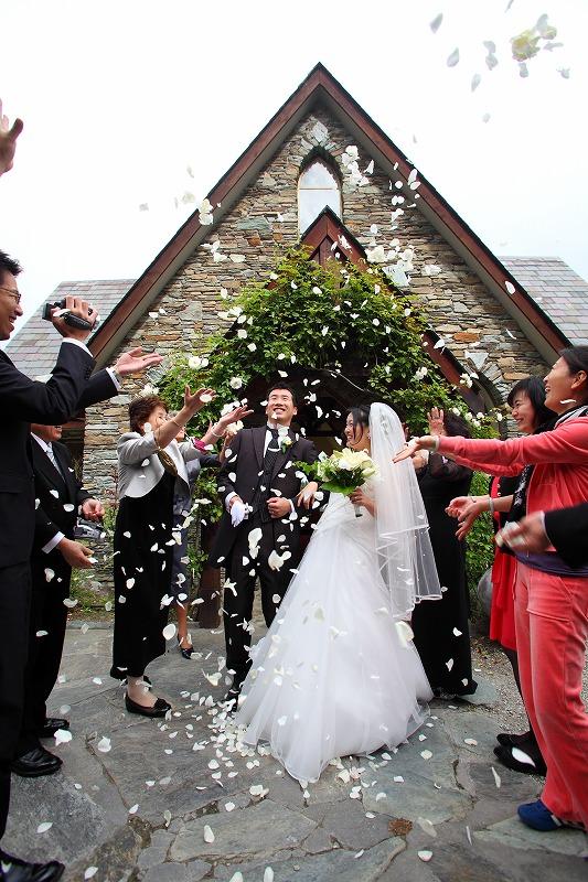 ニュージーランド挙式 チャペル・バイ・ザ・レイクウエディング 校條 尚也様 山村 文様